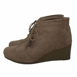 Dr. Scholl's Kayman Taupe Wedge Booties Size 9